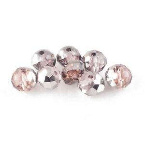 95-Pink-Silver-Czech-Crystal-Glass-4-x-6mm-Faceted-Rondelle-Beads-HA20100