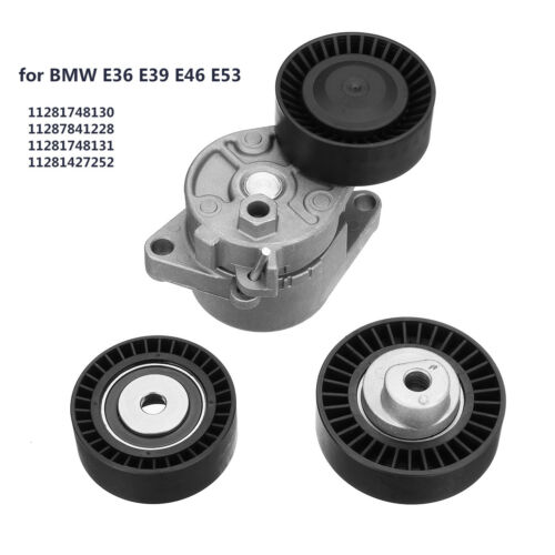 Serpentine Belt Tensioner Pulley Kit 11281427252 For BMW E36 E39 E46 E53 Z3 Z4
