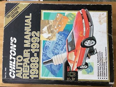 Price Guides & Publications Honest Chilton's Auto Repair Manual 1988 1989 1990 1991 1992 Collector Edition Chevy