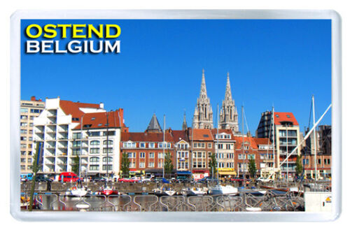 Ostende Belgium Mod2 Fridge Magnet Souvenir Magnet Kühlschrank