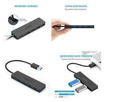 Anker Ultra Slim 4-Port USB 3.0 Data Hub, Portable, for Mac, PC and Flash Drives