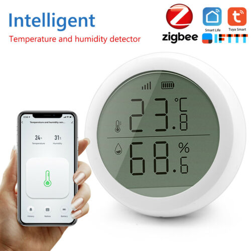 Smart Temperature Humidity Sensor Tuya APP Wireless Control Sensor W// Display UK