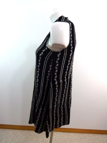 NWOT WAY-IN NORDSTROM WOMENS BLACK EMBROIDERED SLEEVELESS SUN DRESS SHIFT SIZE S