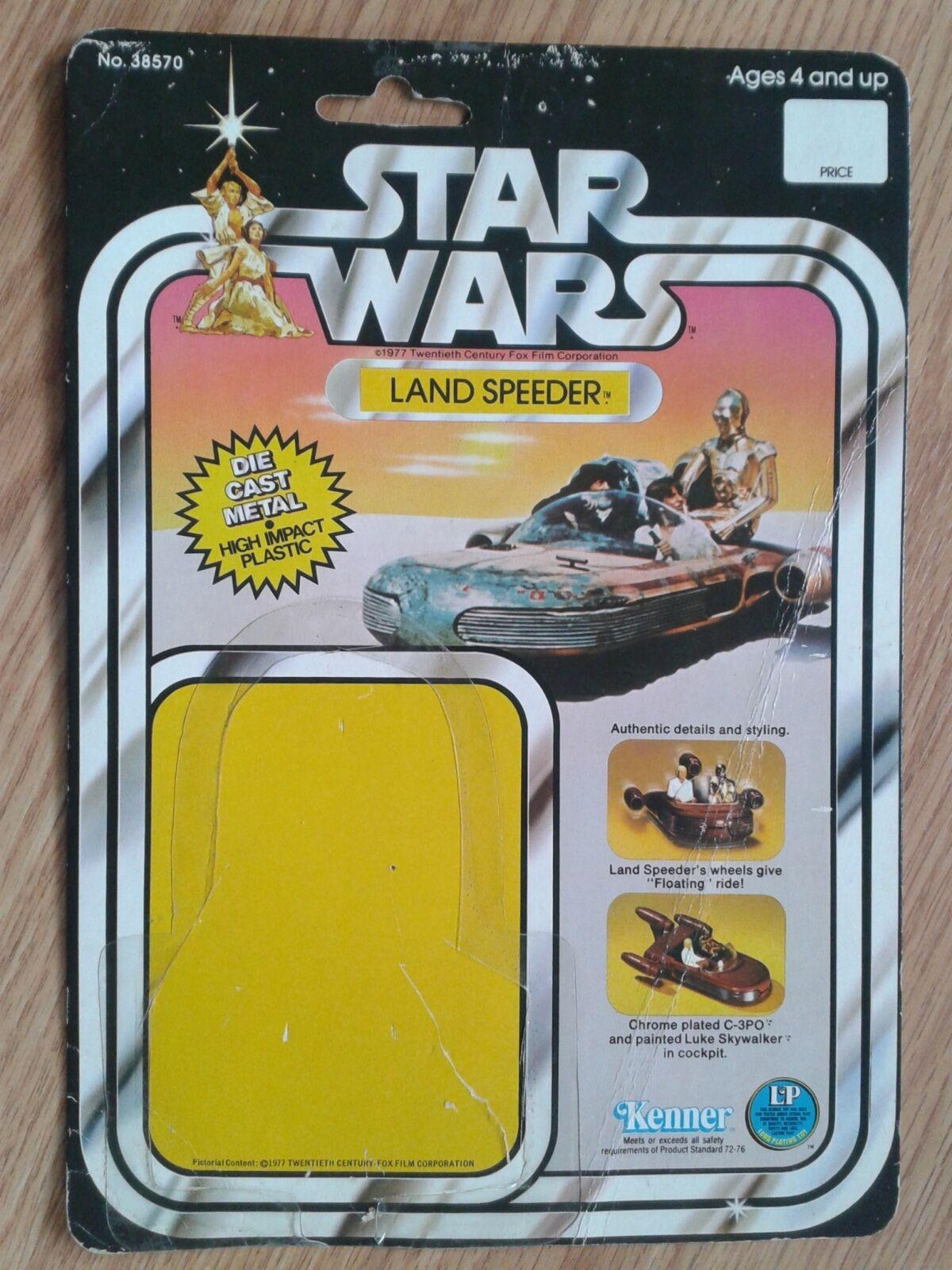 mejor precio Estrella Wars Land Speeder Speeder Speeder Figura De Acción Vintage 12 Tarjeta de apoyo posterior 1978  ganancia cero