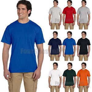 8ec49727 Gildan Mens DryBlend 50/50 T Shirt with Pocket Tee S M L XL 2XL 3XL ...