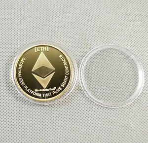 Gold-Plated-Commemorative-Collectible-Golden-Iron-ETH-Ethereum-Miner-Coin-XNB01