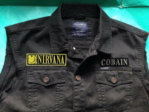 Smiley Jacket In Denim Nevermind off Rock 4xl Bleach S Grunge Nirvana Cut Utero 1qgZ1d