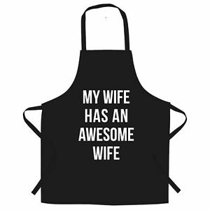 Joke Couples Chef/'s Apron My Wife Has An Awesome Wife Cute Gay Valentines
