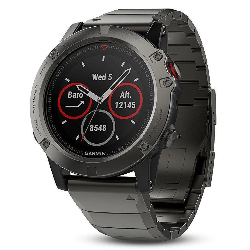 Garmin Fenix 5X Sapphire Slate Metal grau with Metal Slate Band GPS Watch 51mm 010-01733-04 7f4067