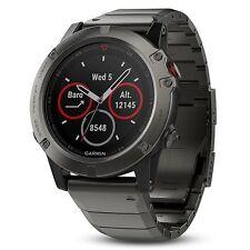 Garmin Fenix 5X Sapphire Slate Gray with Metal Band GPS Watch 51mm 010-01733-04