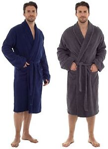 Mens-Gents-Luxury-100-Cotton-Towelling-Bath-Robe-Dressing-Gown-Wrap