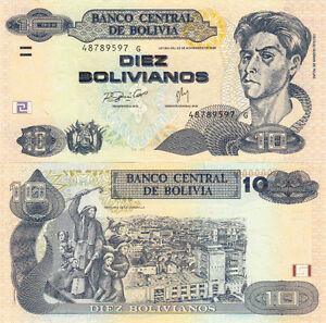 Billet Banque Bolivie Bolivia 10 Bolivianos 1986 Neuf Unc New Ezyz1bwm-07223122-888597926