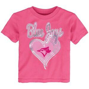 Little-Girls-Toronto-Blue-Jays-Pink-Unfoiled-Love-T-Shirt-Toddler-MLB-Age-4T