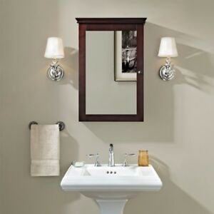 Crosley Lydia Mirrored Wall Cabinet Espresso Cf7005 Es