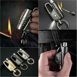 Car-Keychain-Key-Holder-Business-Bottle-Lighter-Two-Ring-With-Lamp-Gifts-Tools