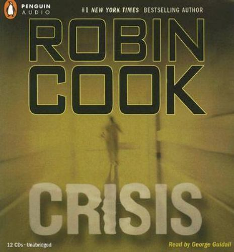 """Robin Cook """"Crisis"""" performed by George Guidall Audio Book on 12 CDs / 14 Hours"""