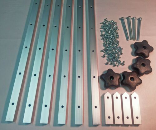 """Aluminum 48/"""" T-Slots Jig Accessory Kit T-Track 4 ft Lot of 6 Clamp"""