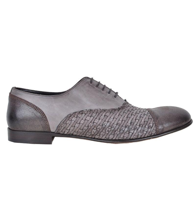 DOLCE & GABBANA SICILIA RUNWAY Gewebte Schuhe Braun Shoes Brown Chaussures 02271
