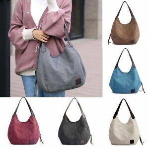 Women-Vintage-Ladies-Large-Canvas-Handbag-Travel-Shoulder-Bag-Casual-Tote-Purse