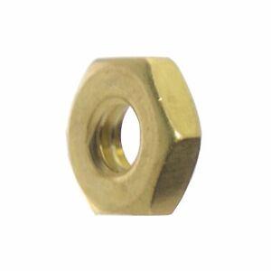 4-40-Machine-Screw-Hex-Nuts-Solid-Brass-Qty-100
