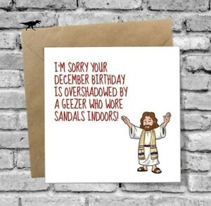 Image Is Loading DECEMBER BIRTHDAY GREETINGS CARD FUNNY JESUS HUMOUR BEST