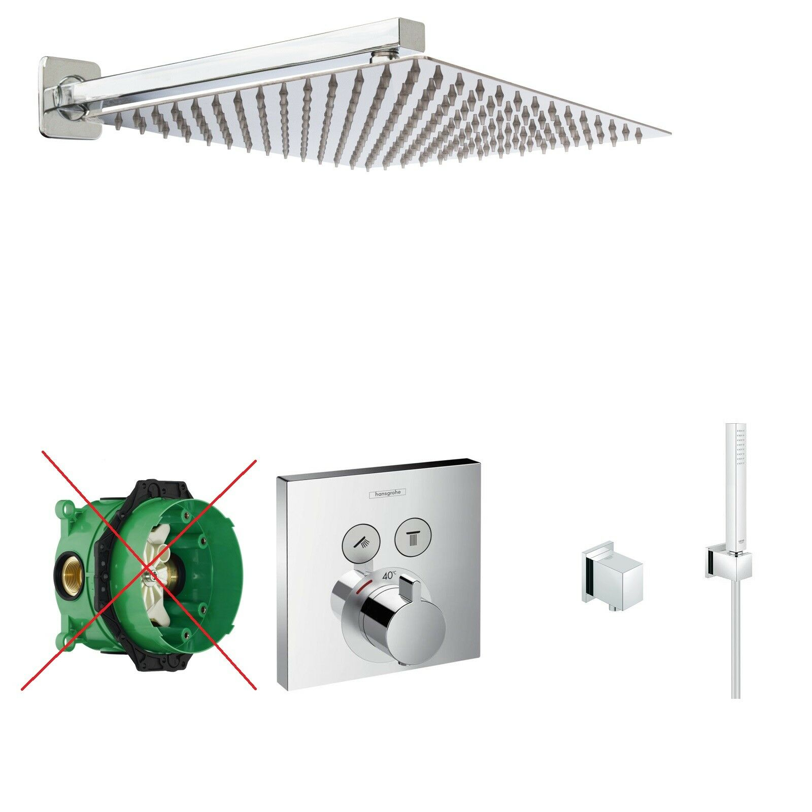 HANSGROHE Select Touch Thermostat,30cm Kopfbrause,ShowerSelect Duscharmatur A44O