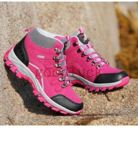 Femme Haut Top Chaussures À Lacets Extérieur Escalade Imperméable Antidérapant Chaussures De Randonnée