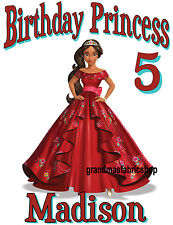 Elena of Avalor Personalized Birthday T Shirt Party Favor Gift Add Name/age