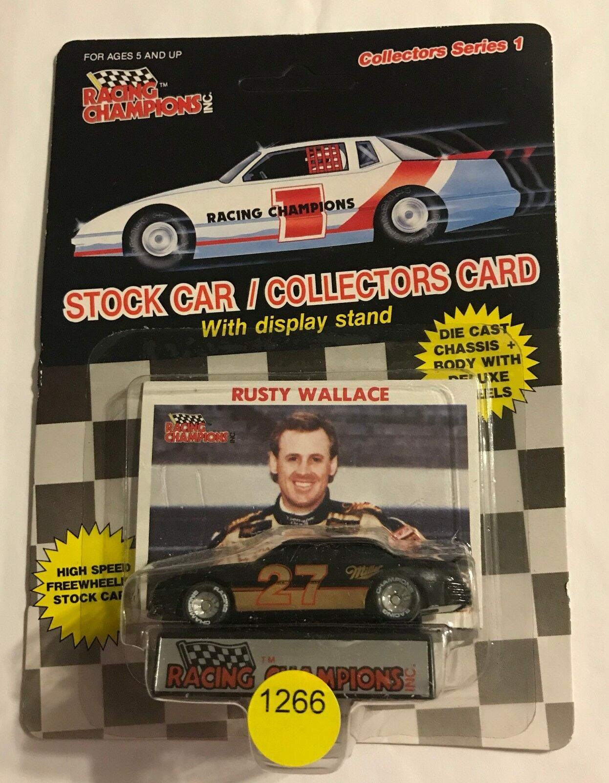 1989 RUSTY WALLACE WALLACE WALLACE  SERIES 1 - PLASTIC TIRE - MILLER ONLY db3d10