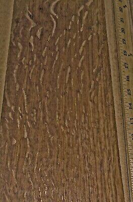 """English Brown Oak Flake Figured wood veneer 6/"""" x 83/"""" raw no back 1//42/"""" ID # 5"""