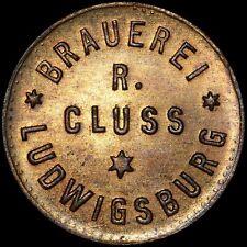 BIERMARKE: 1 Pfennig. BRAUEREI R. CLUSS - LUDWIGSBURG / WÜRTTEMBERG.