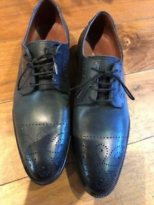 stylish Shoes Italian 9 Used Leather o Hardly Mens brand Premium Size Mario aB4zwq