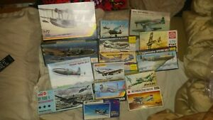 Vintage-Model-Planes-15-Open-Boxes-Matchbox-Kp-Hasegawa-Heller-Nice-Choice
