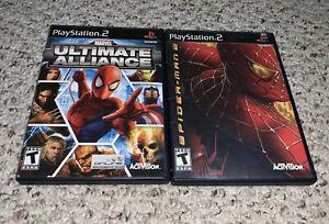 Spiderman 2 & Marvel Ultimate Alliance PlayStation 2 PS2 Lot Bundle