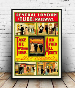 Central-London-Tube-old-Railway-advertising-Reproduction-poster-Wall-art