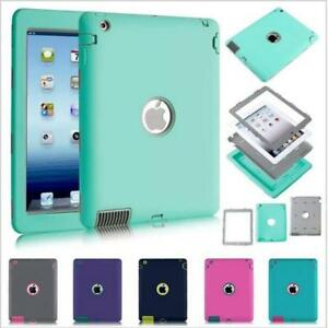 iPad-2-3-4-Air-2-amp-MINI-Defender-Case-Shockproof-Cover-Built-in-Screen-Protector