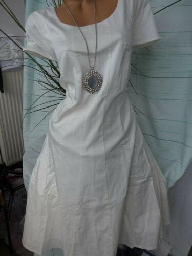 Sheego Damen Kleid Etuikleid Cocktailkleid Gr 615 44 bis 54 Creme Weiß