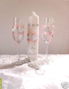 Hochzeitsgläser!♥(Sektgläser),Hochzeitskerze, modern ,Farbe wählbar-Hochzeit
