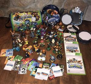 Massive Xbox 360 Skylanders Lot, Swamp Force, Spyros Adventure, Giants. Games +