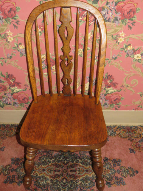 Ethan Allen Royal Charter Oak Bowback Windsor 16 6000 Side Chair For Online Ebay