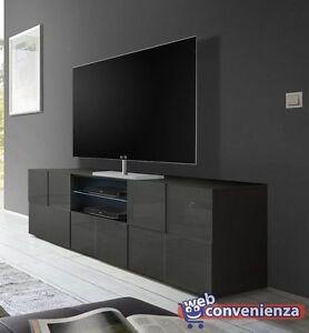 Dama Mobile Porta TV Moderno Contenitore 2 ante 1 cassetto Grigio ...