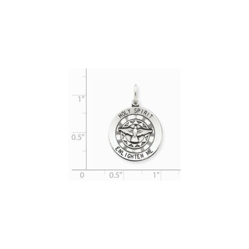 .925 Sterling Silver Antique HOLY SPIRIT médaille Charme Pendentif PDSF $54