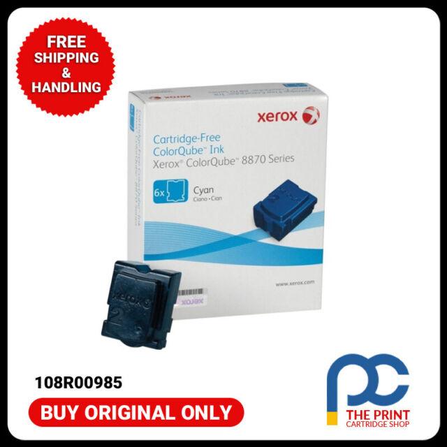 New & Original Fuji Xerox 108R00985 6xPack CYAN Ink Sticks->CQ8870DN/CQ8870