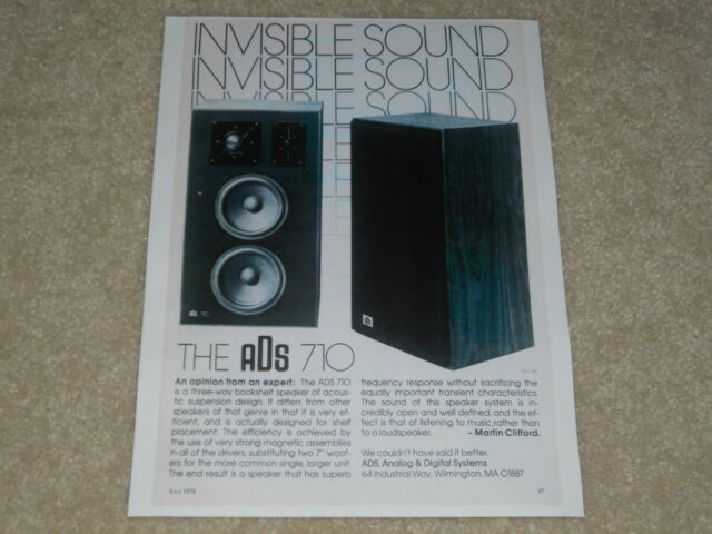 A/D/S 710 Speaker Ad, 1976, 1 Page, Article, Info