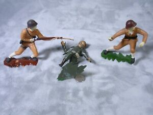 LOT-1963-Louis-Marx-5-034-Tan-Japanese-Soldier-Grenade-Toy-Figure-Hand-Painted-TG