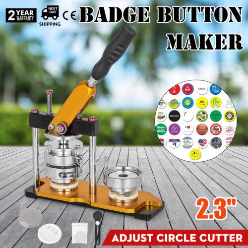 58mm 2.28/'/' Badge Button Maker Machine Metal Rotate Circle Badge Punch Press