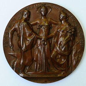 Médaille Medal Congo Lagae 1897 Wolfer Art Nouveau Exposition Exhibition Brussel