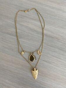 Banana Republic Women/'s Layered Signet Pendant Necklace NWT 58 Sz 6