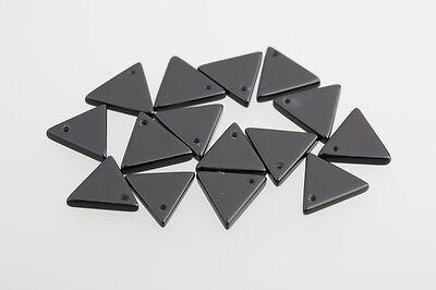 Onyx Cabochon Dreiecke Scheiben durchgebohrt  13 x 13mm schwarz / BOX
