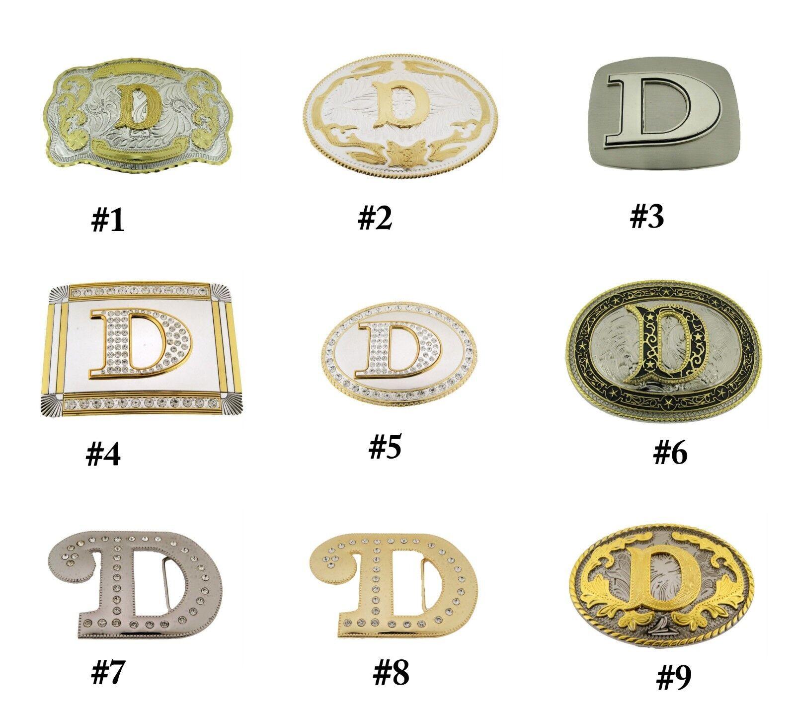 Erste D Brief Gürtel Schnallen Alphabet Monogramm Herren Cowboy Western Cowgirl